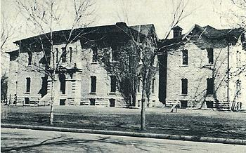 Central School after 1905 wings added, clock tower removed, photo courtesy Riley County Historical Museum