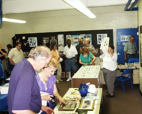 Jean Hill explains MHSAA and The Alumni Mentor during the Class of 1964 reunion tour.