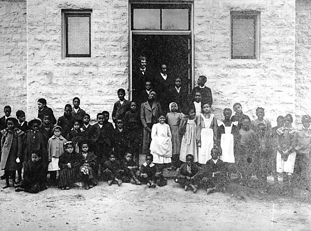 First 1904 Douglas School, photo courtesy Riley County Historical Museum