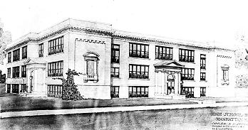 1913 drawing of MHS , photo courtesy Riley County Historical Museum