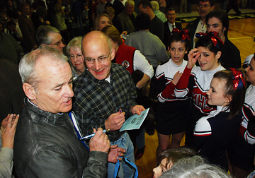 Hollywood star Bill Murray signs autographs following the Wall of Fame induction ceremony at which he accepted the honor on behalf of his friend and mentor Del Close '52. The text of Murray's speech may be found in the Spring 2008 Alumni Mentor.