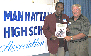 Harold Robinson and MHSAA President David Fiser